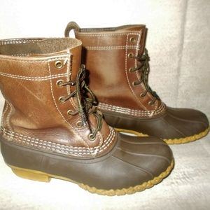 LL Bean Boots Dark Brown Size 7